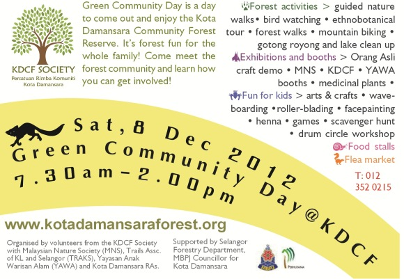 Green Community Day flyer slider Green Community Day@KDCF